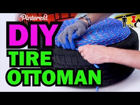 DIY Tire Ottoman - The NEW Man Vs Pin - Pinterest Test #1