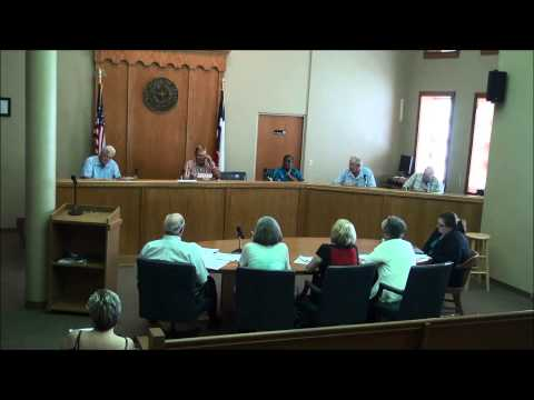Titus County Texas Commissioners' Court held on June 8, 2015