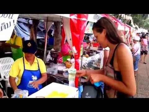 Chanthaburi Thailand - Durian festival - FREE fruit :)
