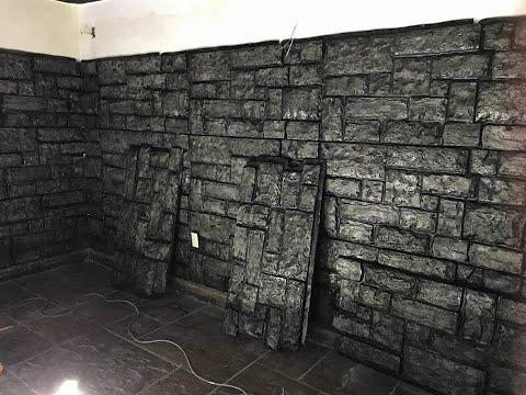 Panel imitacion piedra termico y acustico decomuro youtube for Paneles poliuretano imitacion piedra precios