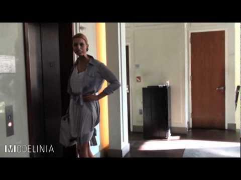 Model Karolina Kurkova Gets Ready for the CFDA Awards
