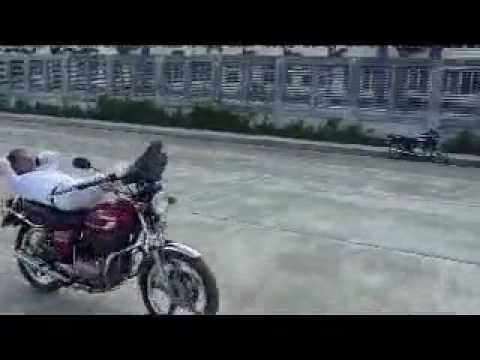 Motorcycle stunts by senior citizen - Francis Daban 74 years old from Iloilo city philippines.mp4