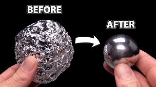 DIY Mirror Polishing Aluminum Foil Ball - Japanese Foil Ball Challenge
