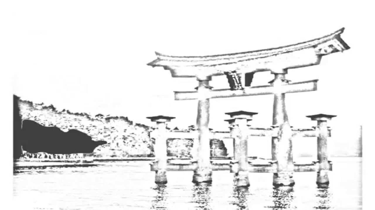 Shinto Shrine Drawing Auto Draw 2 Miyajima Shrine
