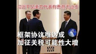 政论:习近平见美方代表有善意无让步、框架协议难达成加征关税可能性大增(2/15)