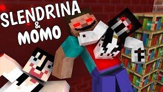 Monster School: SLENDRINA & MOMO - Minecraft Animation