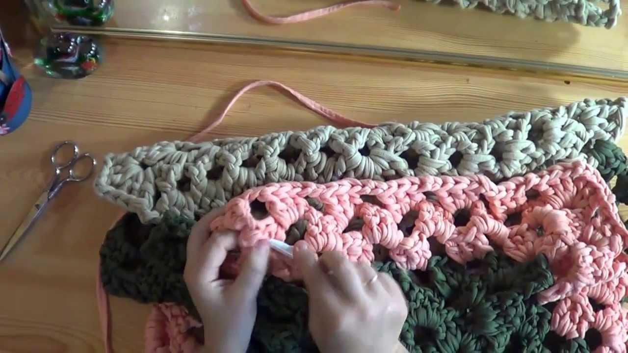 Como hacer alfombra de trapillo 2 parte youtube - Como hacer trapillo ...