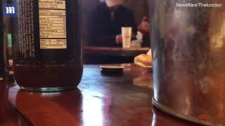 Man caught eating spoonfuls of plain ketchup at a restaurant