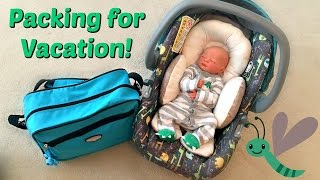 ☼ Packing for Vacation with Reborn Baby Eli ☼