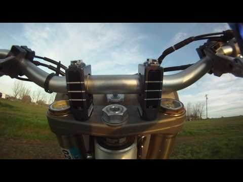 Dirt Bike Shock & Vibe handlebar Clamps by Precision Racing Products