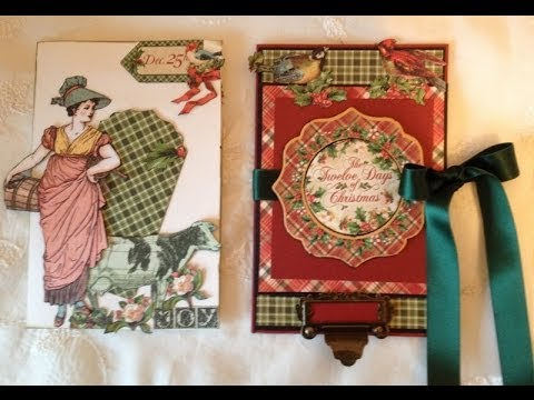 Beginners Card tutorial The twelve Days of Christmas feminine and masculine cards