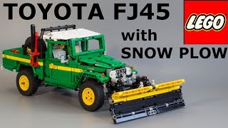 LEGO Toyota LC FJ45 snow plow. Episode 1: Test drive with SBRICK and SNOW