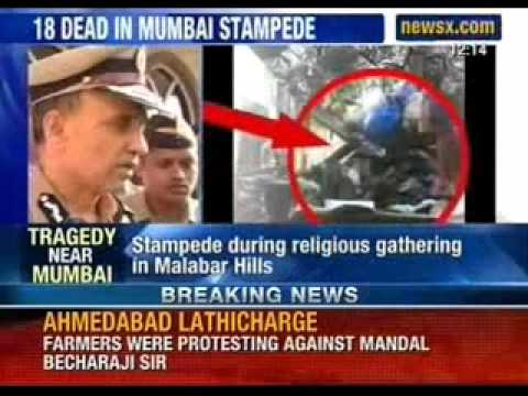 Tragedy near Mumbai; 18 dead, 45 injured in stampede - NewsX