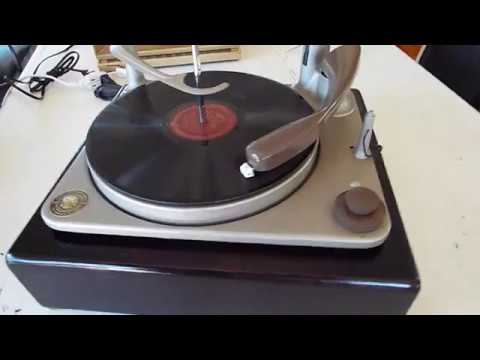 BSR UA-6 4 speed automatic record player playing a 78 RPM record.