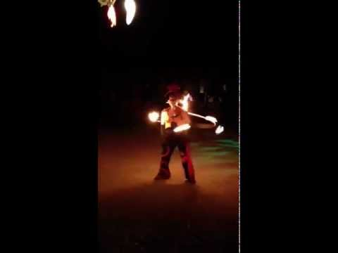 Fire Hoop: GlitterGirl gets down at 3 Degrees, Willits, CA 4th of July 2012