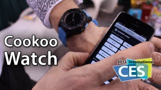 [CES 2013] Cookoo Watch - Smart Watch For iOS Devices