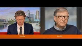 Video: Bill Gates: COVID Vaccine for 7 Billion people gets us back the World, we had before - BBC News