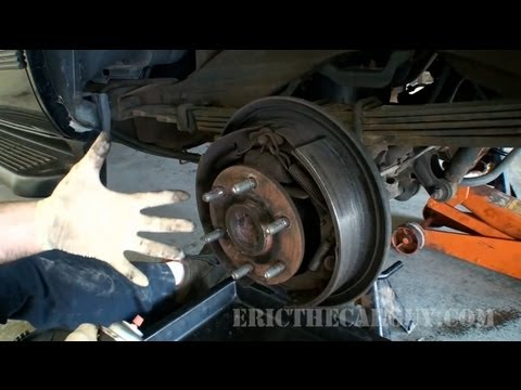 1999 Chevy Tahoe Rear Shoe Replacement (Part 1) - EricTheCarGuy