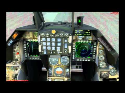 How to start the HUD and MFD in Aerosoft F-16 - FSX