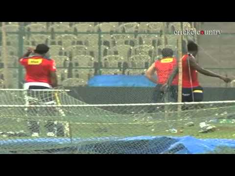 IPL 2013: Delhi Daredevils practice ahead of their clash against Royal Challengers Bangalore