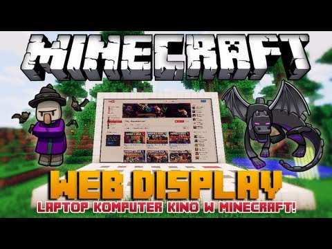 Minecraft 1.6.2 Mody - Web Display Mod - Komputer, Laptop, Kino w Minecraft!