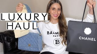 EPIC Luxury Designer Fashion Try-On Haul | FARFETCH, Chanel, Louis Vuitton...