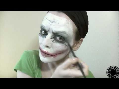 Видео как нарисовать Джокера на лице