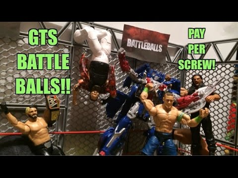 GTS WRESTLING: BattleBalls PPV! WWE Battleground Wrestling Figure Matches Animation! Mattel Elites!