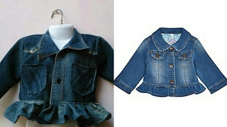 Making new design of baby jacket from old shirt easy tutorial