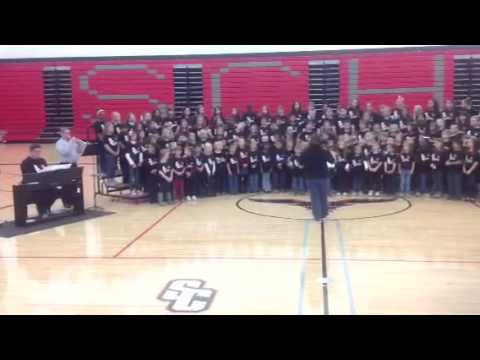 My son with the Stewarts Creek Middle school choir singing.