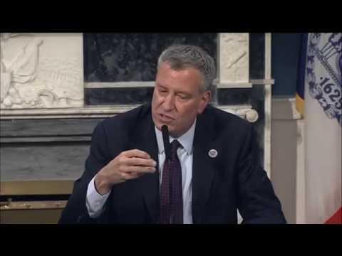 Mayor Bill de Blasio Hosts Italian Media Roundtable