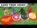 Avengers Captain America Flash And Wonder Woman Logos With Thomas Play Doh Toy Story TT4U