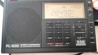 Swl tuning around 28mhz amateur radio band