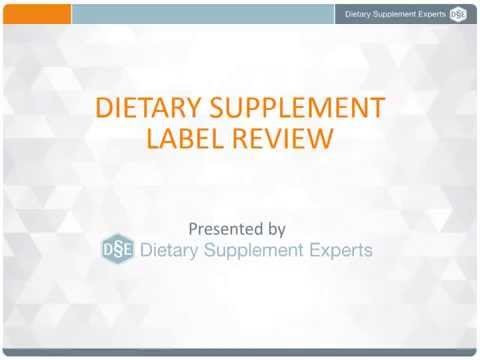DSE FREE Warning, Caution, and Notice Statements Required for Dietary Supplement Labels