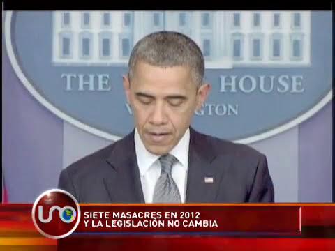7 masacres en Estados Unidos durante el 2012 y la legislación no cambia