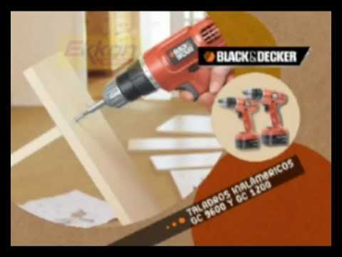 EKKON EXPERTOS - TALADRO INALAMBRICO GC 9600 GC 1200 BLACK AND DECKER