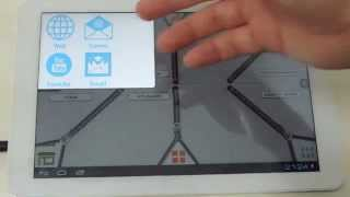 Interfaz Zippers en Tablet