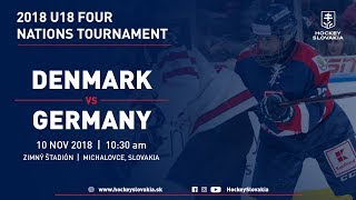 U18 Four Nations Tournament 2018 | Denmark vs Germany