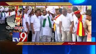 Karnataka Bandh    Kannada groups halt bus services - TV9