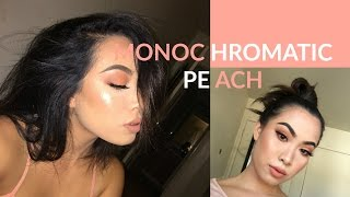 KYLIE JENNER INSPIRED | Dirty Peach Monochromatic Makeup Tutorial