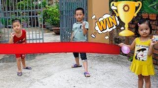 Trò Chơi Chạy Đua Rùa Và Thỏ - Bé Nhím TV - Đồ Chơi Trẻ Em Gà Rán