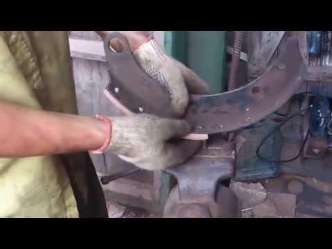 Клепка тормозных колодок своими руками