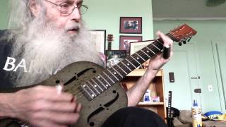 Slide Guitar Blues Lesson In Open D On My National Steel NPB12 With Insanity!!!