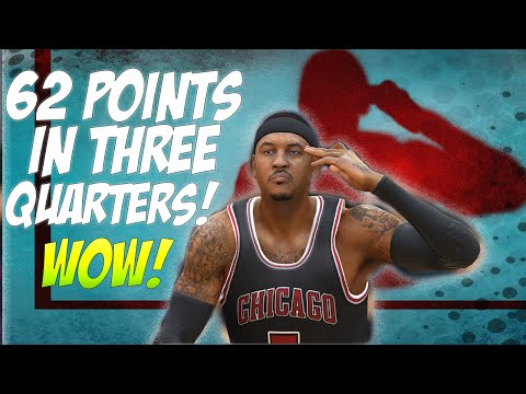 NBA LIVE 15 - Carmelo Anthony 62 points in 3 Quarters! (Ultimate Team)