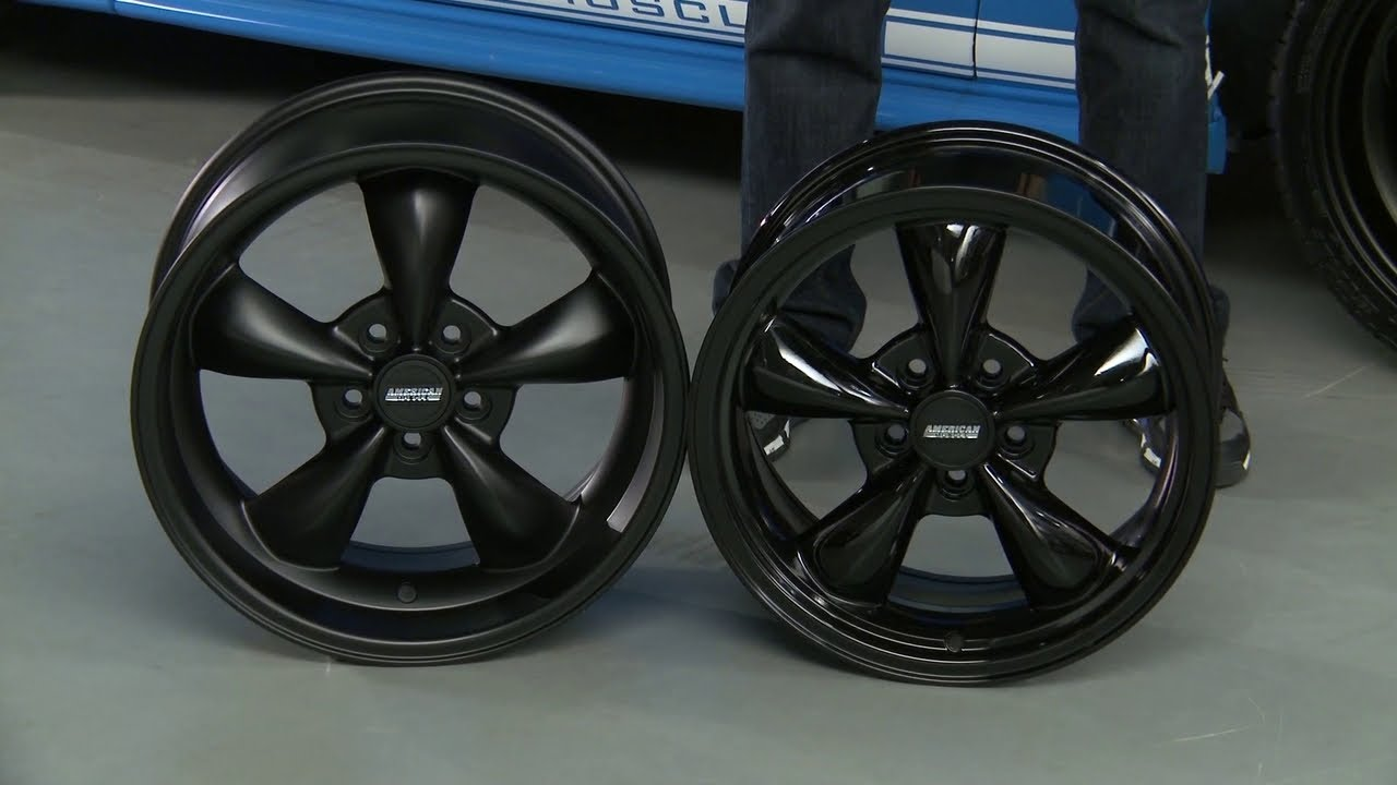 Mustang Bullitt Deep Dish Wheels Solid Black And Solid