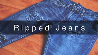How I Rip My Jeans | Tutorial