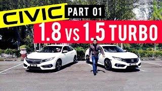 Honda CIVIC 1.5 Turbo vs 1.8 (Part 1/2) Review | ARENAAUTO (Ep 01)