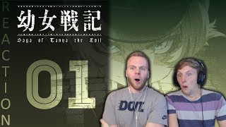 SOS Bros React - Saga of Tanya the Evil Episode 1 - Magical Psycho War Loli?!?