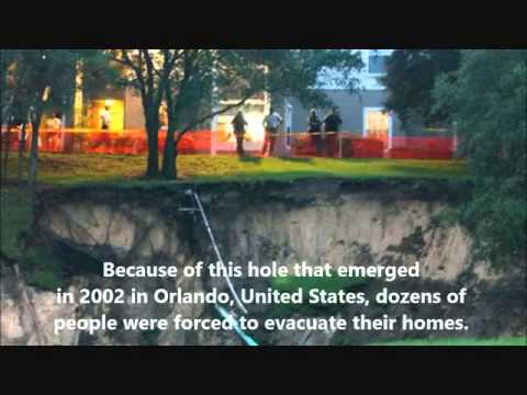 NWO Illuminati weapon sink holes vs Earth natural sink holes? Satellite or underground weapon?
