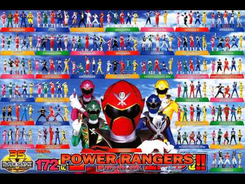 Power Rangers Mighty Morphin to Mega Force theme songs Mix